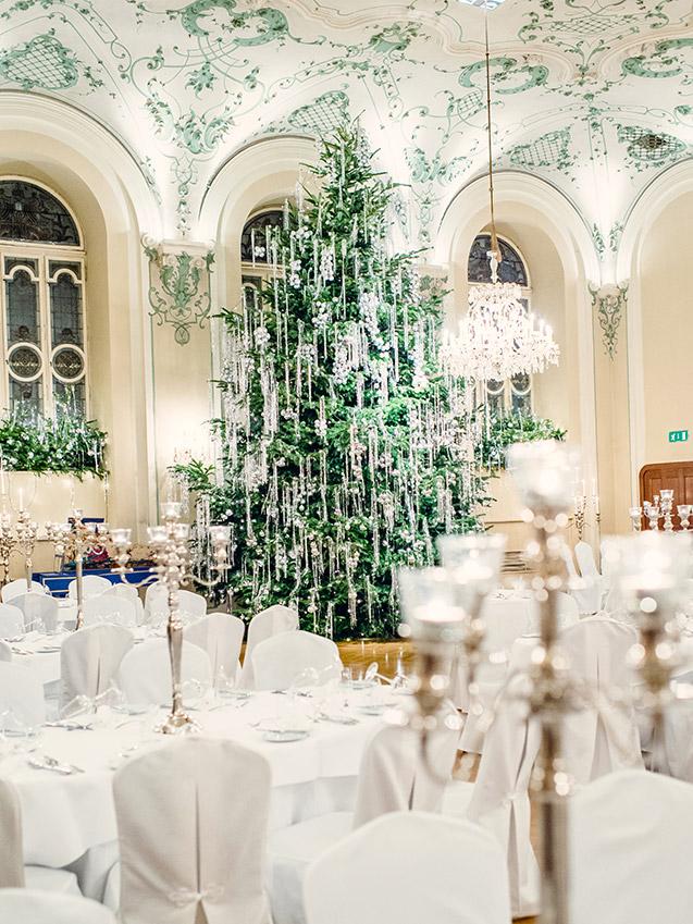 Barocksaal zur Weihnachtszeit